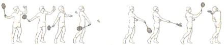 Badminton Kurzer Aufschlag